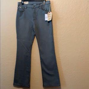 Diane Gilman Gray Stretch Jeans